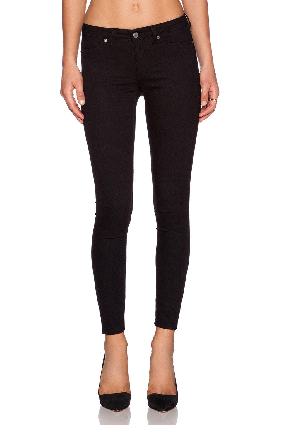Cheap Monday Spray Midrise Skinny Crop in Black