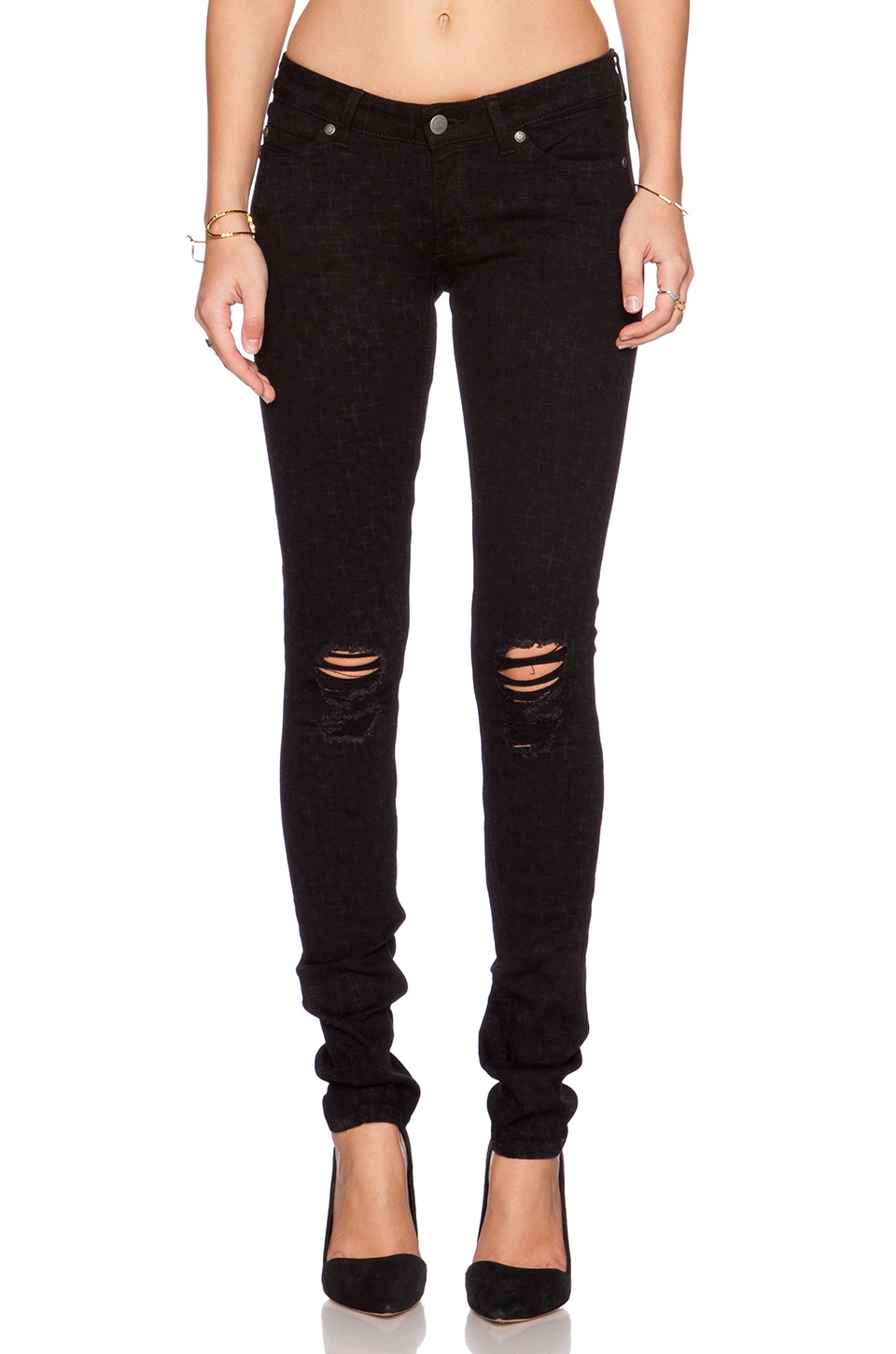 Cheap Monday Slim Skinny in AOP+ Ripped