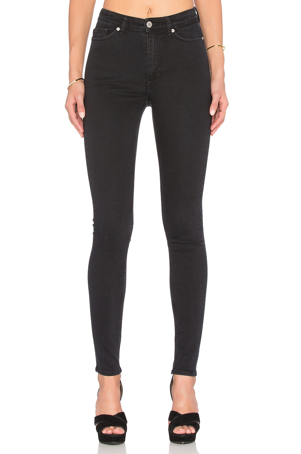 Cheap Monday High Snap Skinny in Ash