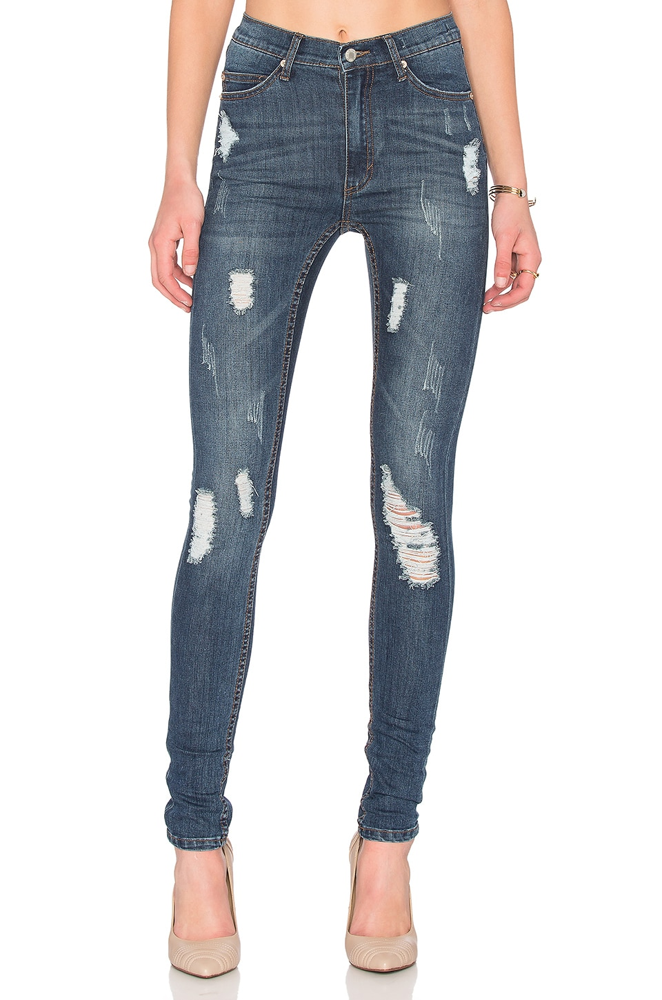 Cheap Monday Second Skin Skinny in Carbon Torn