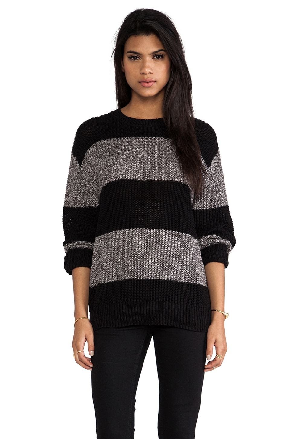 Cheap Monday Stripe Knit in Black & Grey