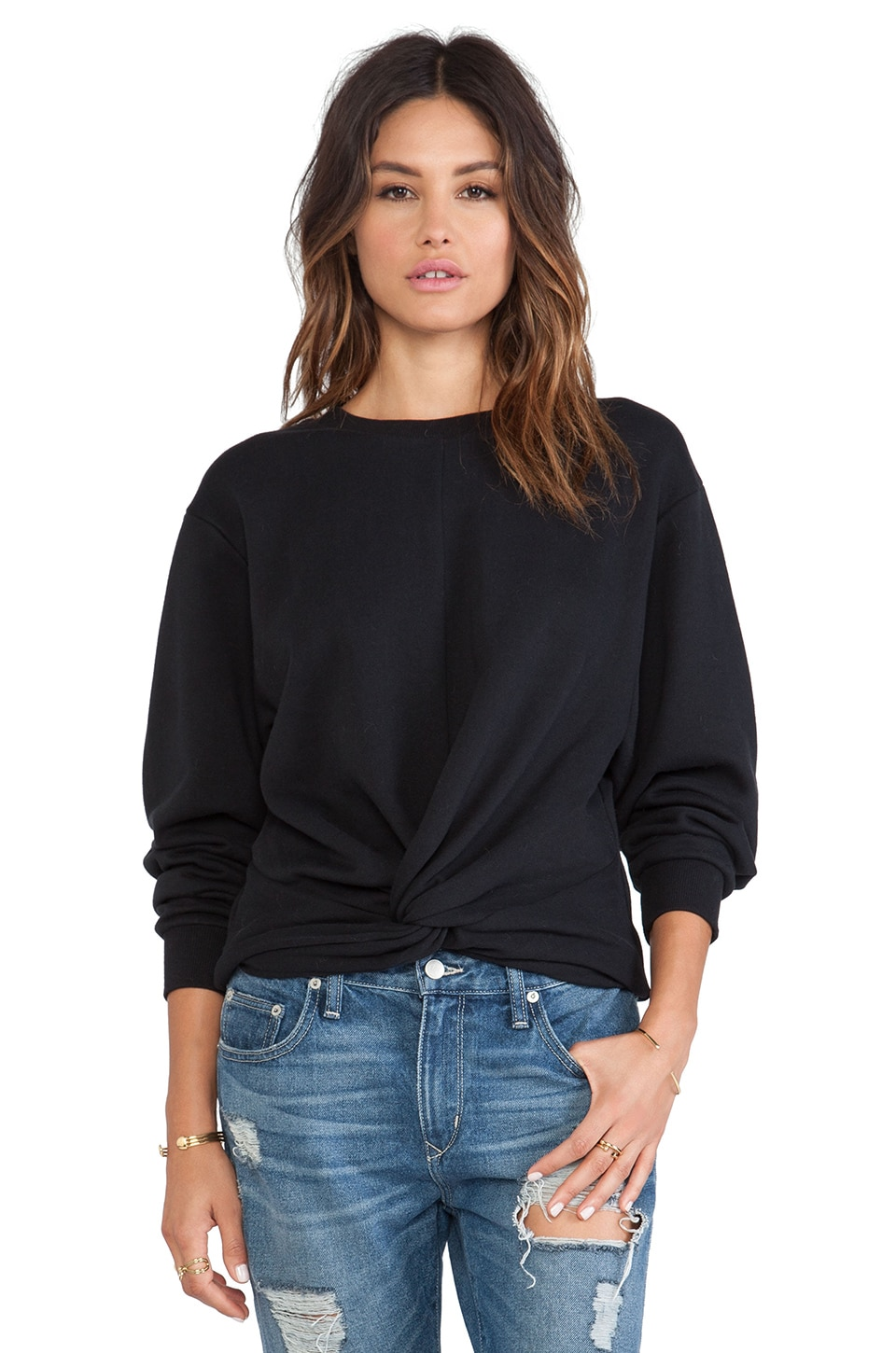 Cheap Monday Knot Sweater in Black | REVOLVE