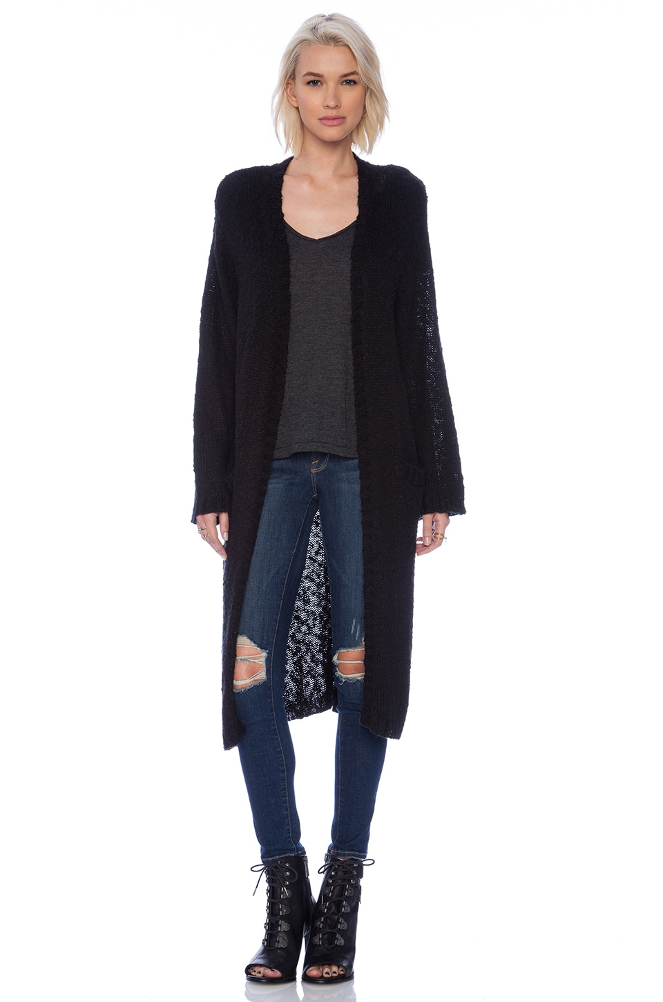 Cheap Monday Memoir Cardigan in Black | REVOLVE