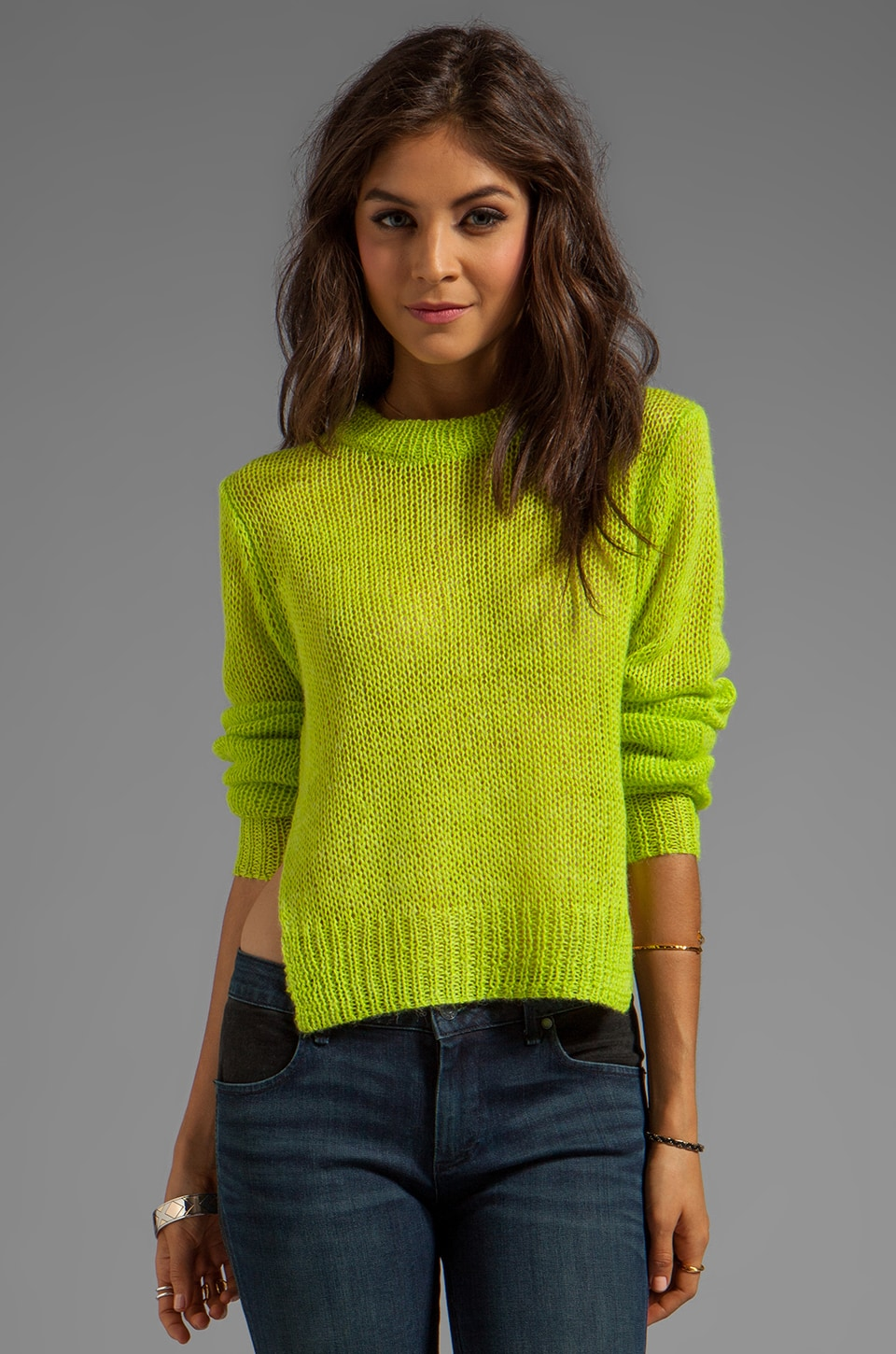 Cheap Monday Megan Sweater in Lime Punch