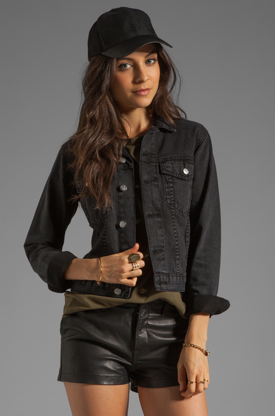 Cheap Monday Tess Jeans Jacket in Washed Black