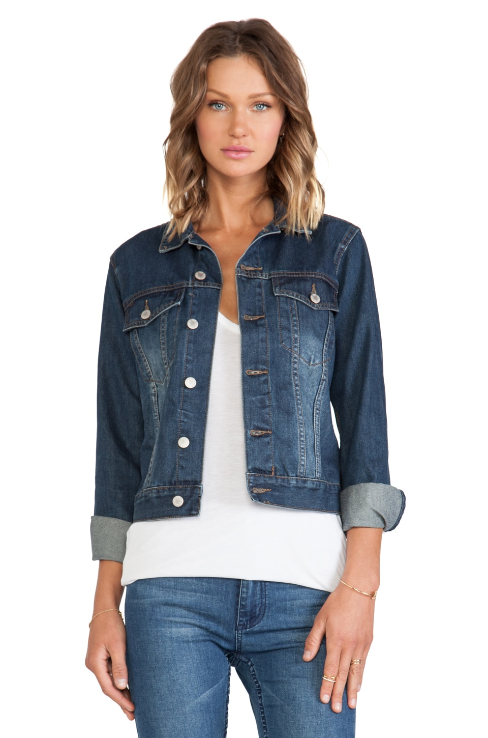 Cheap Monday Vital Denim Jacket in Night Shadow
