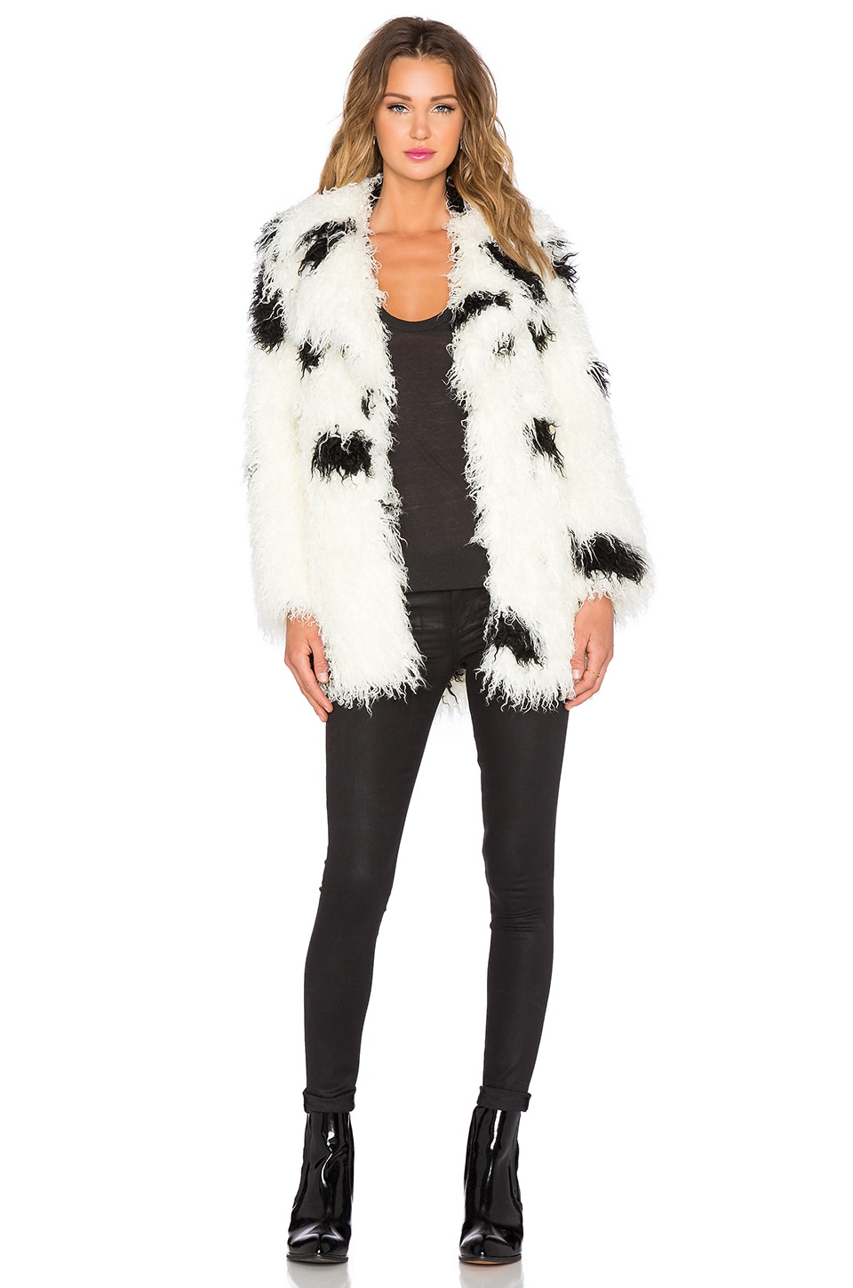 Cheap Monday Faux Fur Curl Jacket in Dirty White