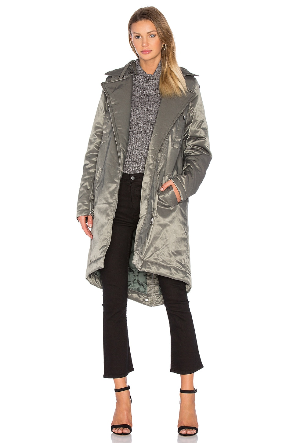Cheap Monday Profile Parka Jacket in Elephant Grey | REVOLVE