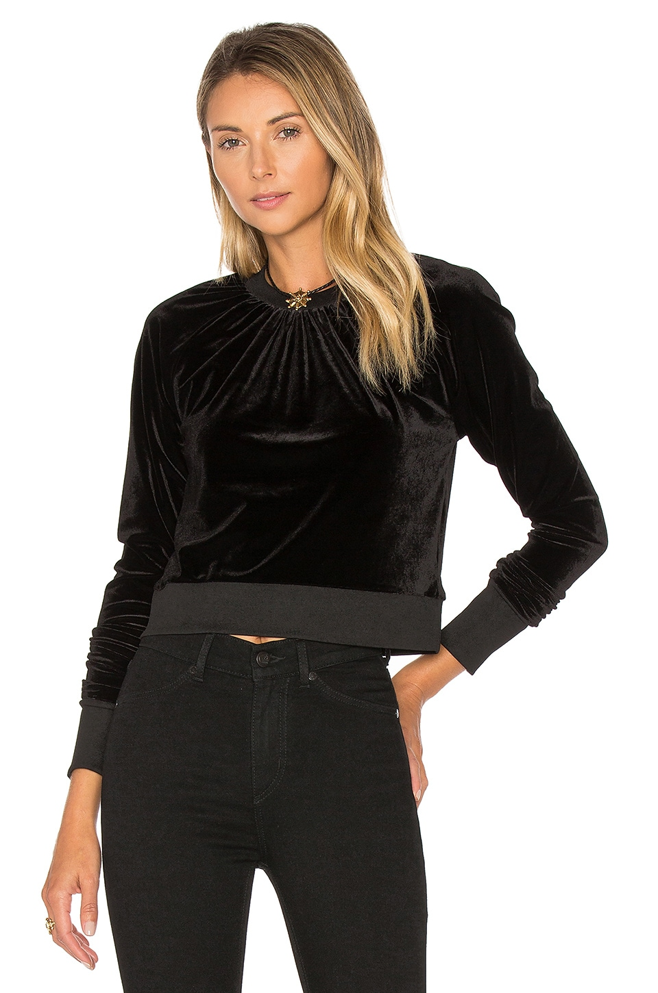 Cheap Monday Velvet Sweatshirt in Black