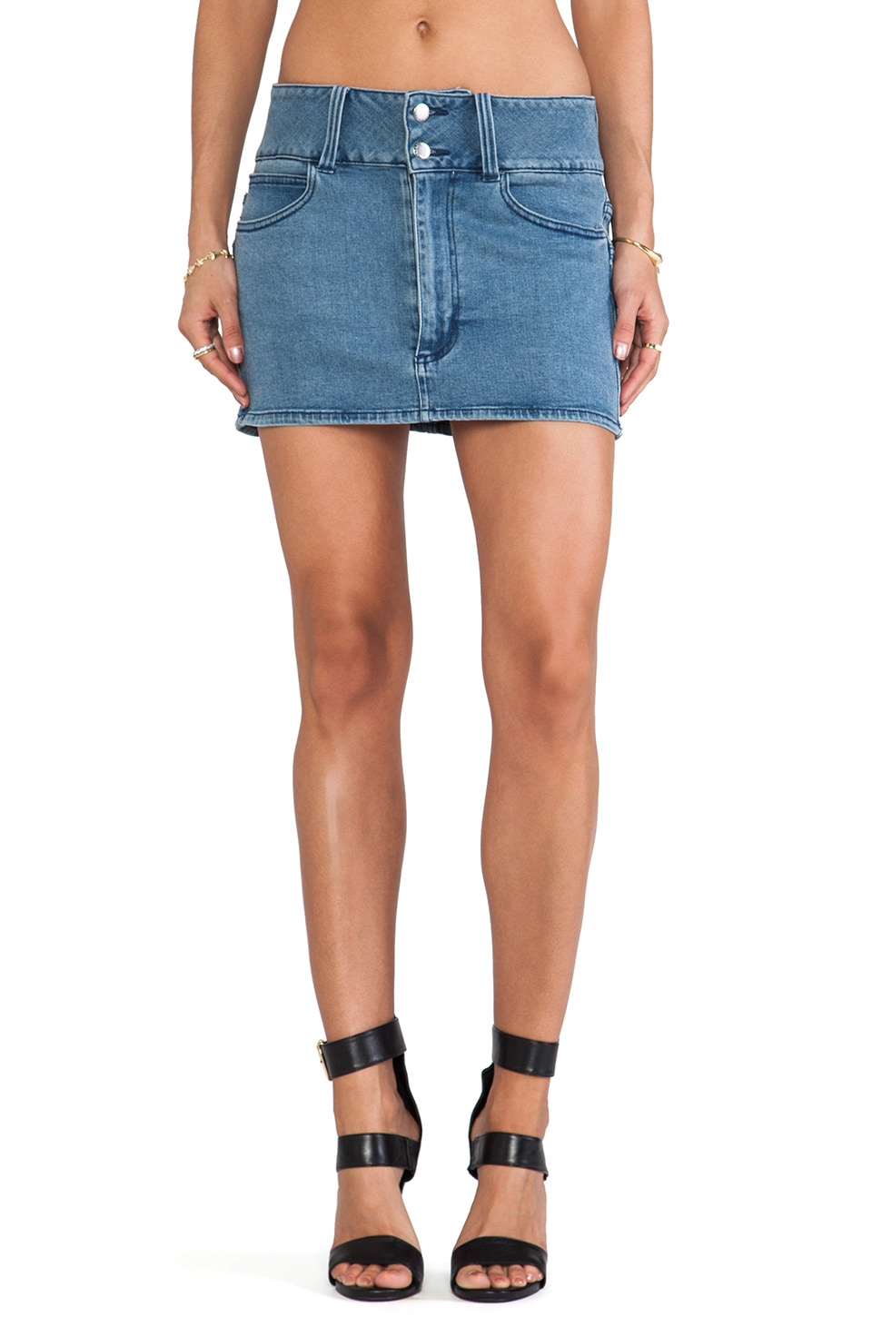 Cheap Monday Enormous Skirt in Left Eye Blue