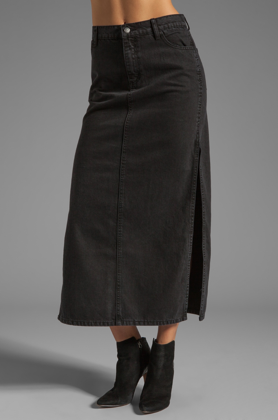 Cheap Monday Avery Skirt in Washed Black
