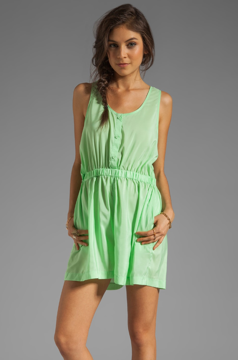 Cheap Monday Dillon Jumpsuit in Kiwi Green