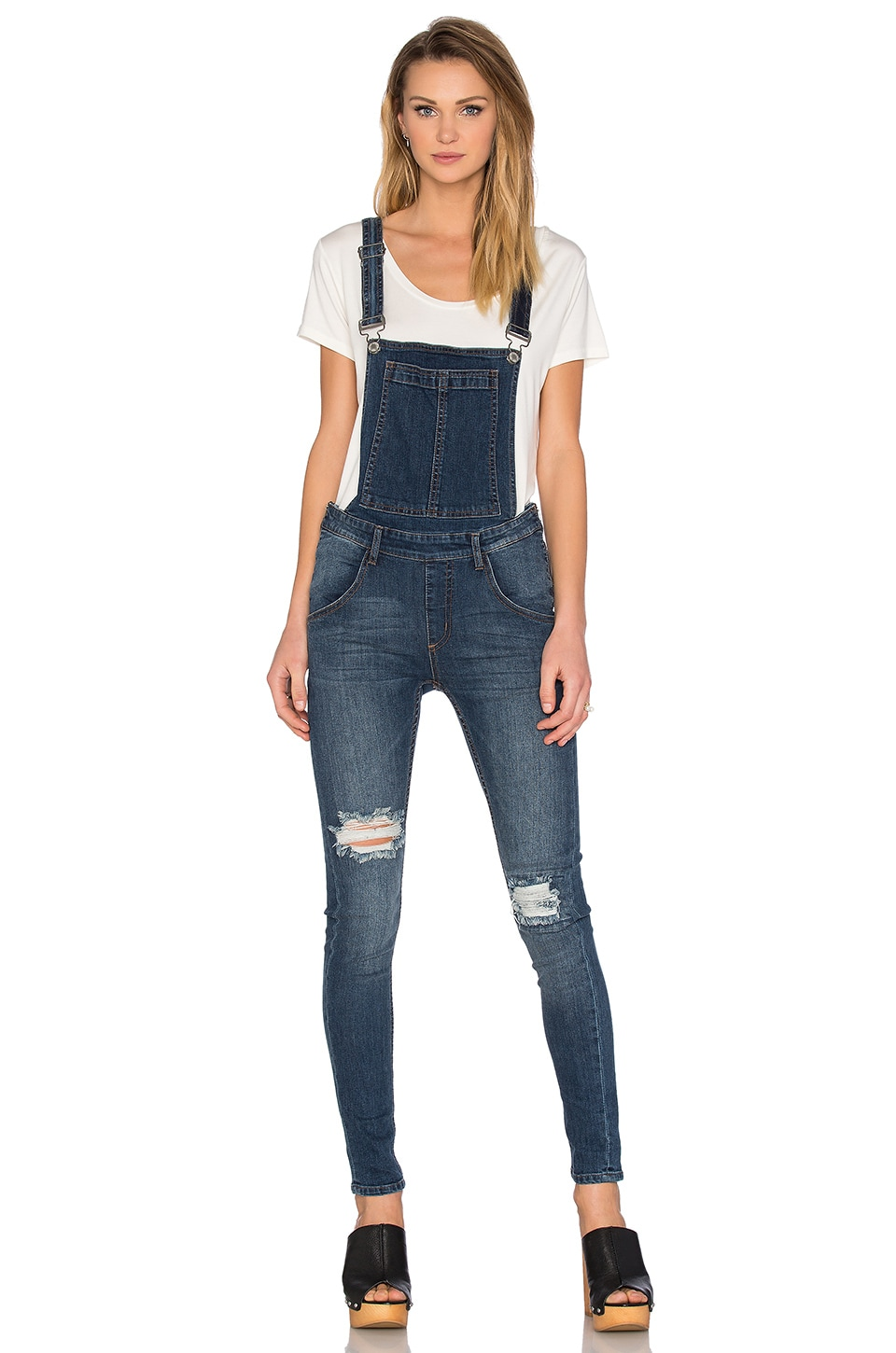Cheap Monday Dungaree Overall in Carbon Blue