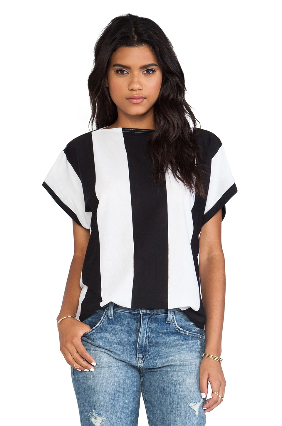 Cheap Monday Rocket Top in Black & White