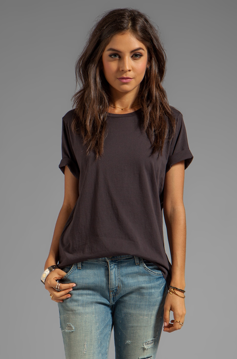 Cheap Monday Perfect Tee in Washed Black