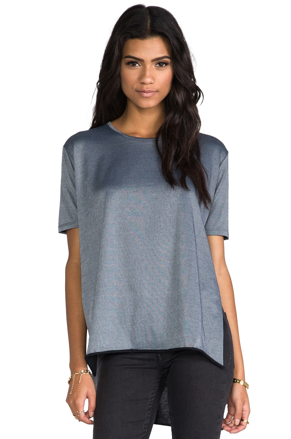 Cheap Monday Slice Super Nice Top in Silver Melange