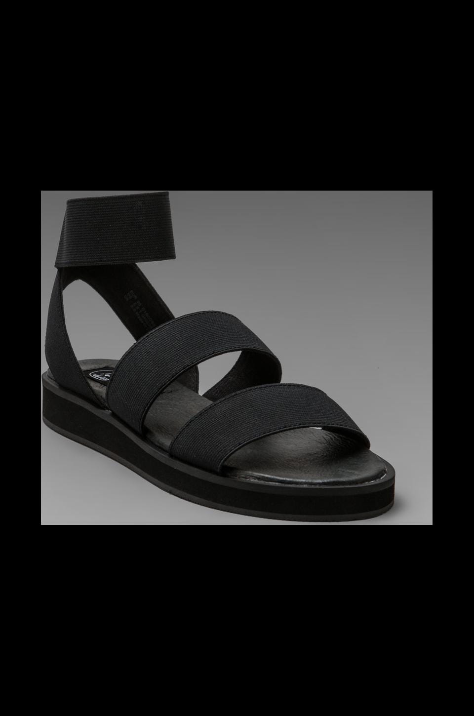 Cheap Monday Saviour Traction Elastic Sandal in Black