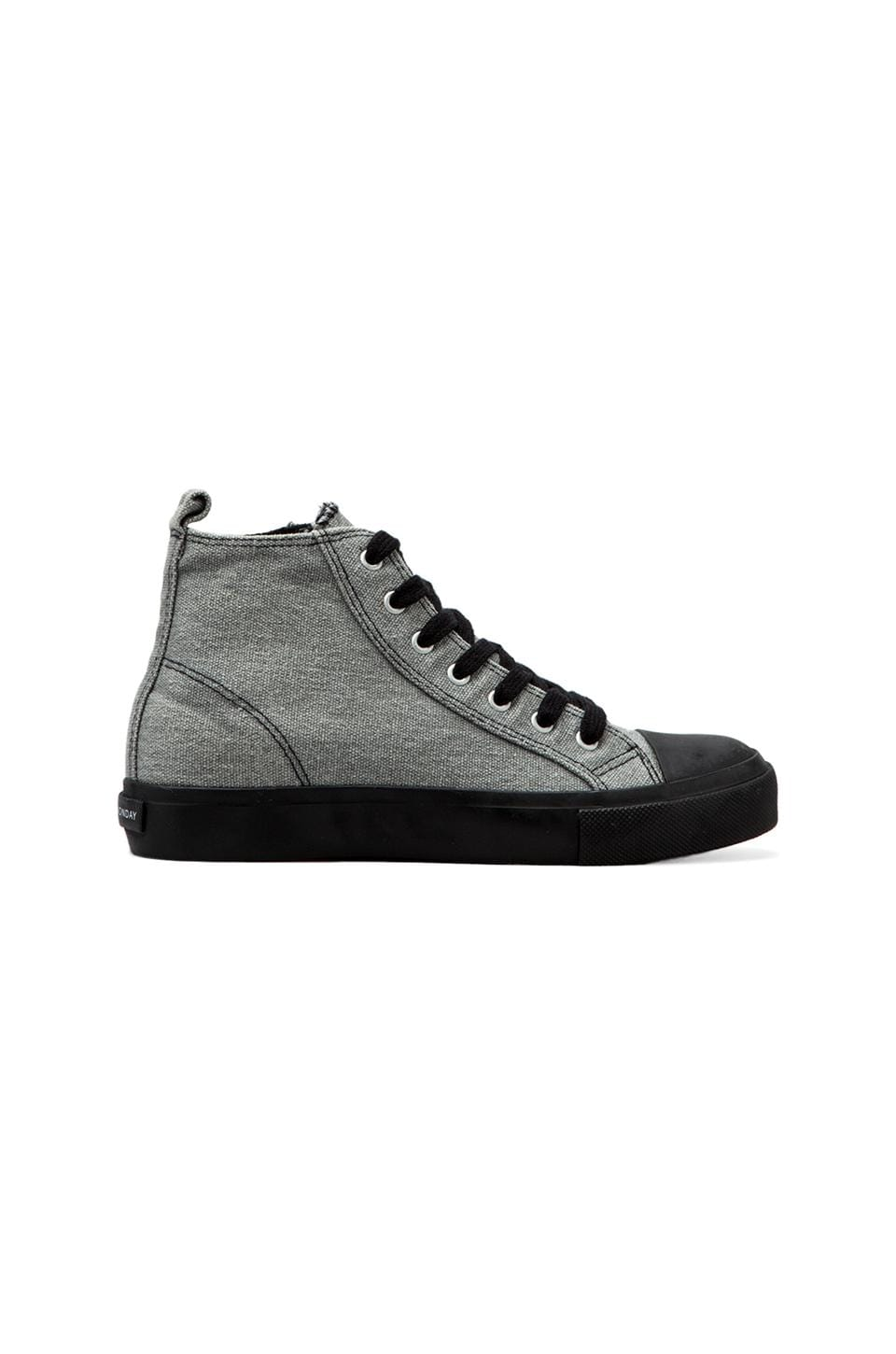 Cheap Monday Base High Top in Grey Canvas