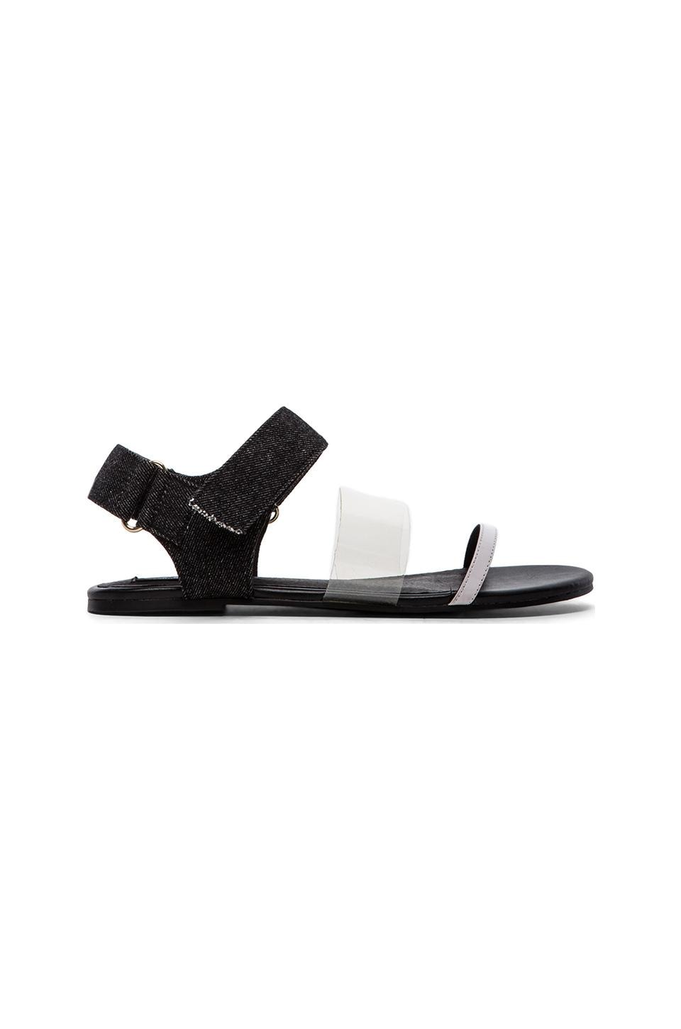 Cheap Monday Savior Velcro Sandal in Black