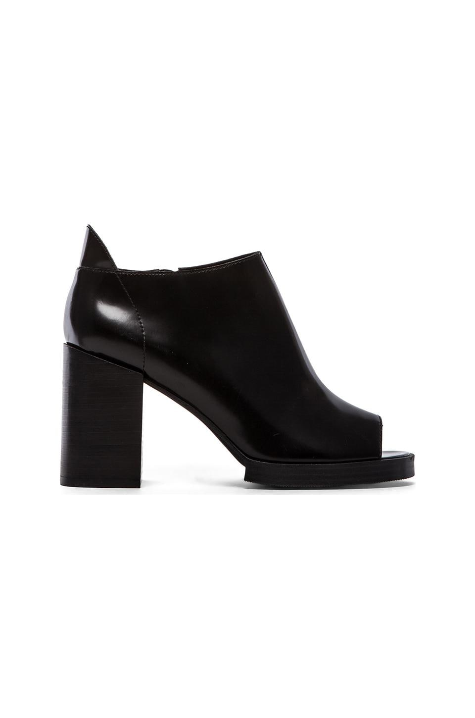 Cheap Monday Layer Peep Toe Bootie in Black