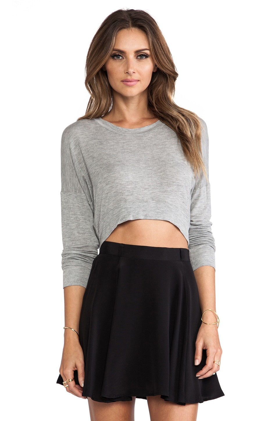Charles Henry Cropped Sweater in Grey