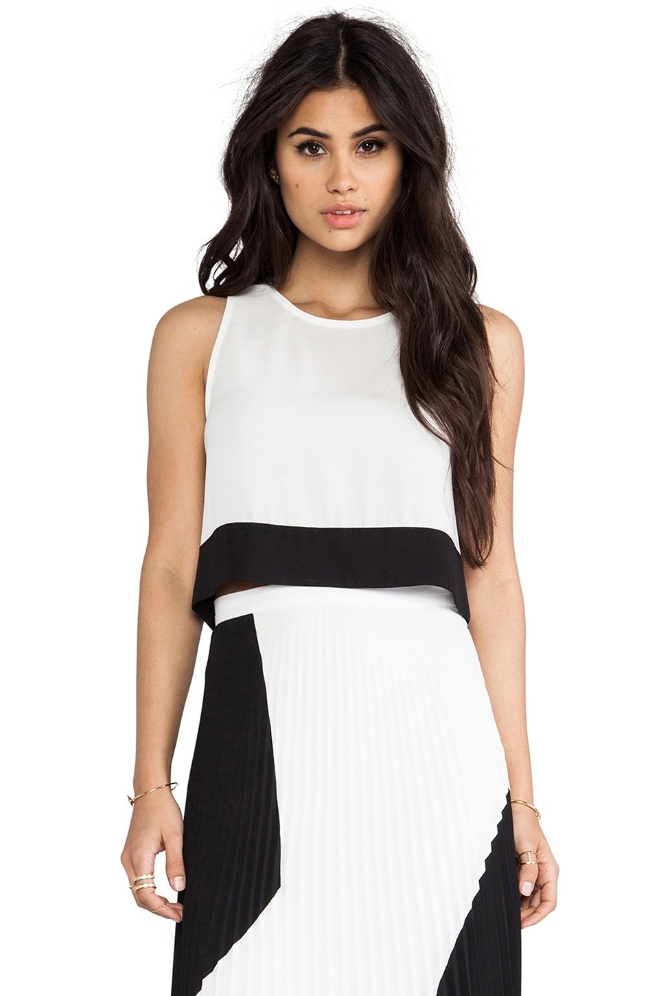 Charles Henry Cropped Tank in Black & White