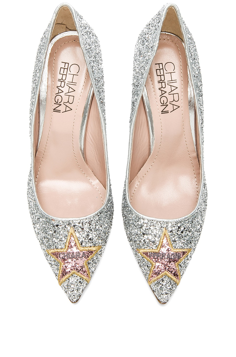 Chiara Ferragni Star Pump in Silver