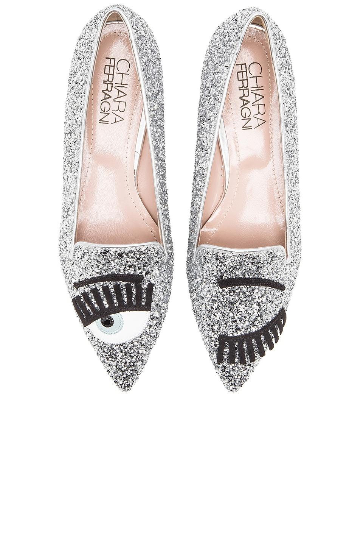 sale retailer 89634 13f5e Chiara Ferragni Flirting Flat in Silver   REVOLVE