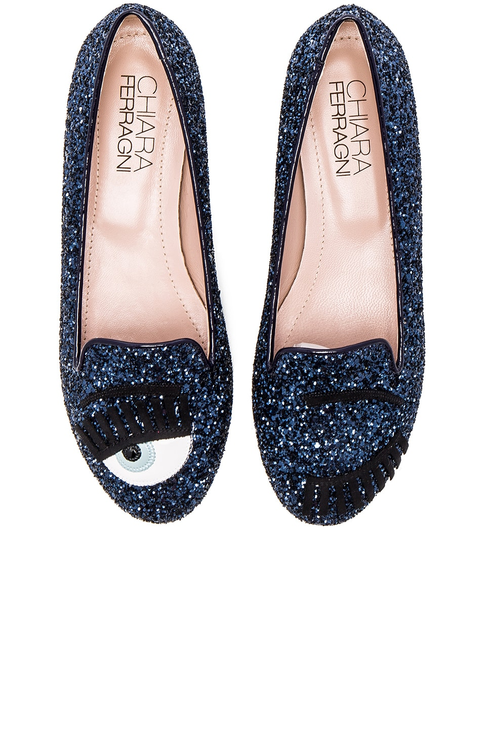 Chiara Ferragni Flirting Flat in Blue