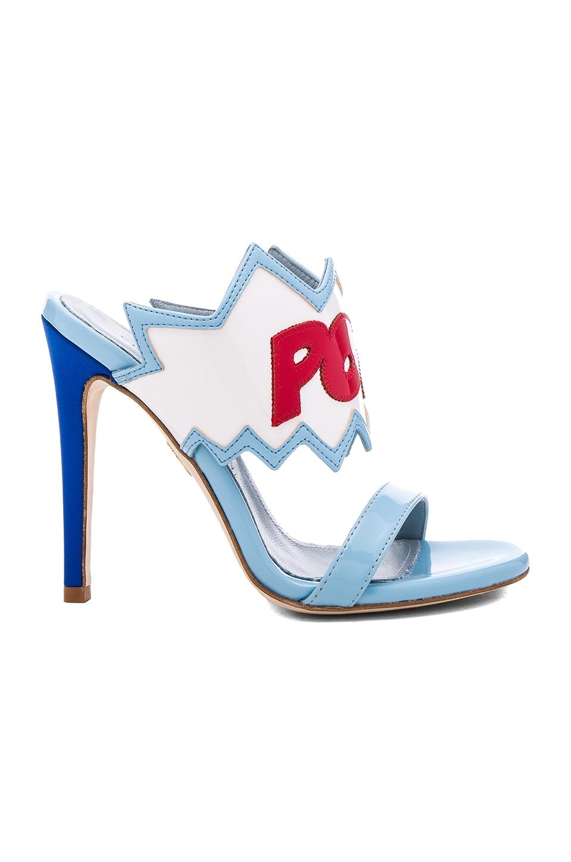 Chiara Ferragni Patent Pow Heel in Sky Blue
