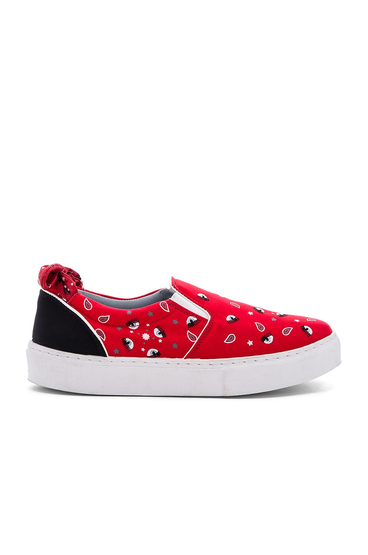 Chiara Ferragni Bandana Slip-On Sneaker in Red