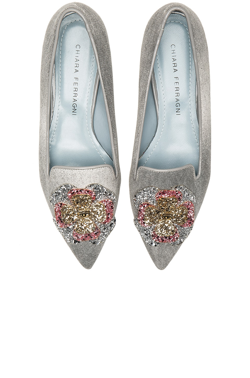 Chiara Ferragni Pointed Slipper in Grey