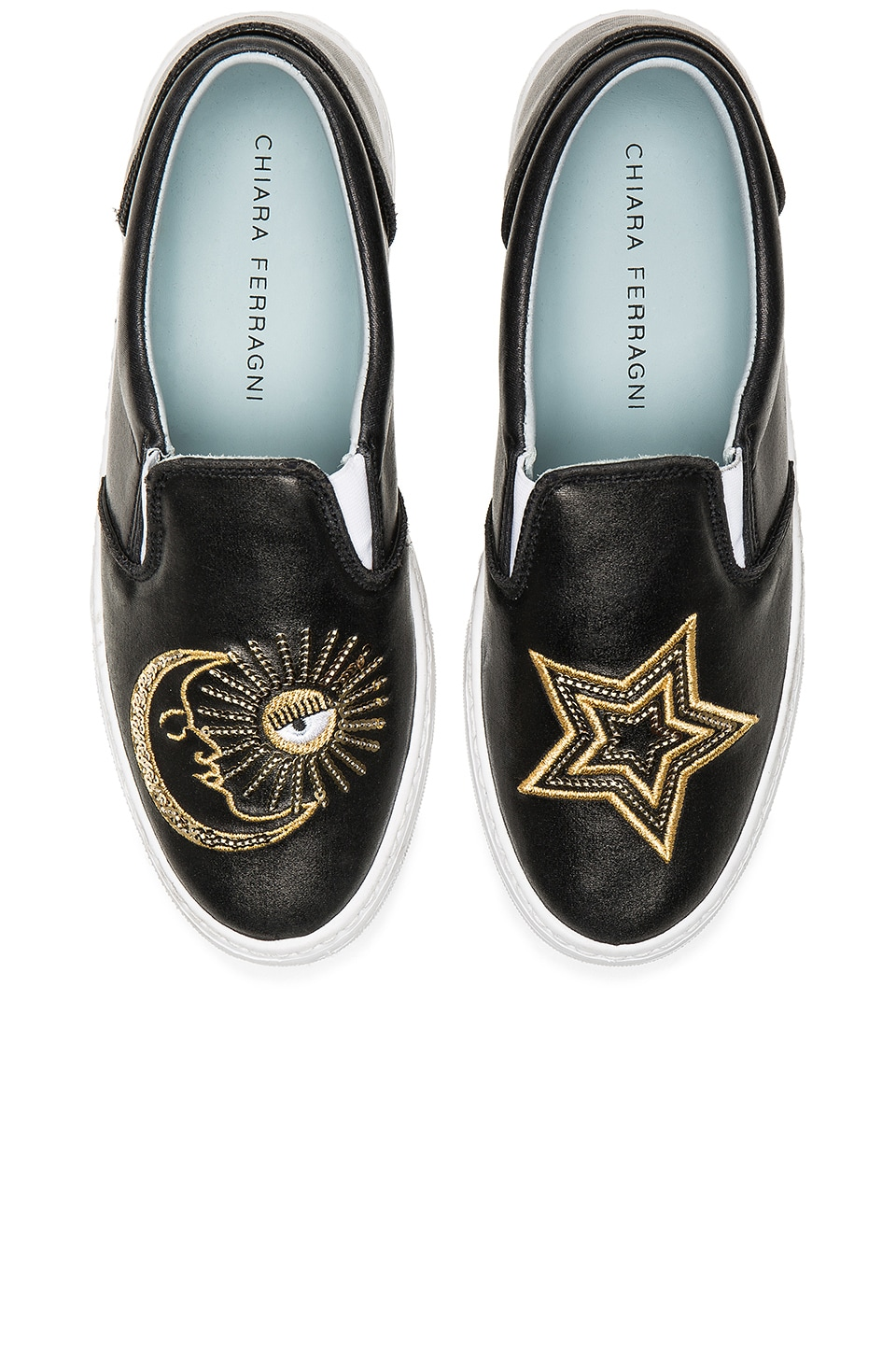 Chiara Ferragni Starry Slip On Sneaker in Black