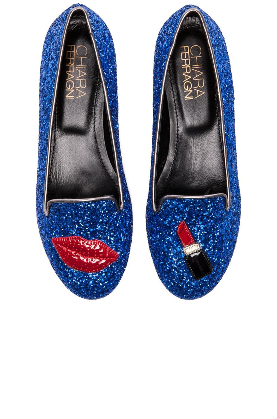 Chiara Ferragni Lips and Lipstick Flat in Blue