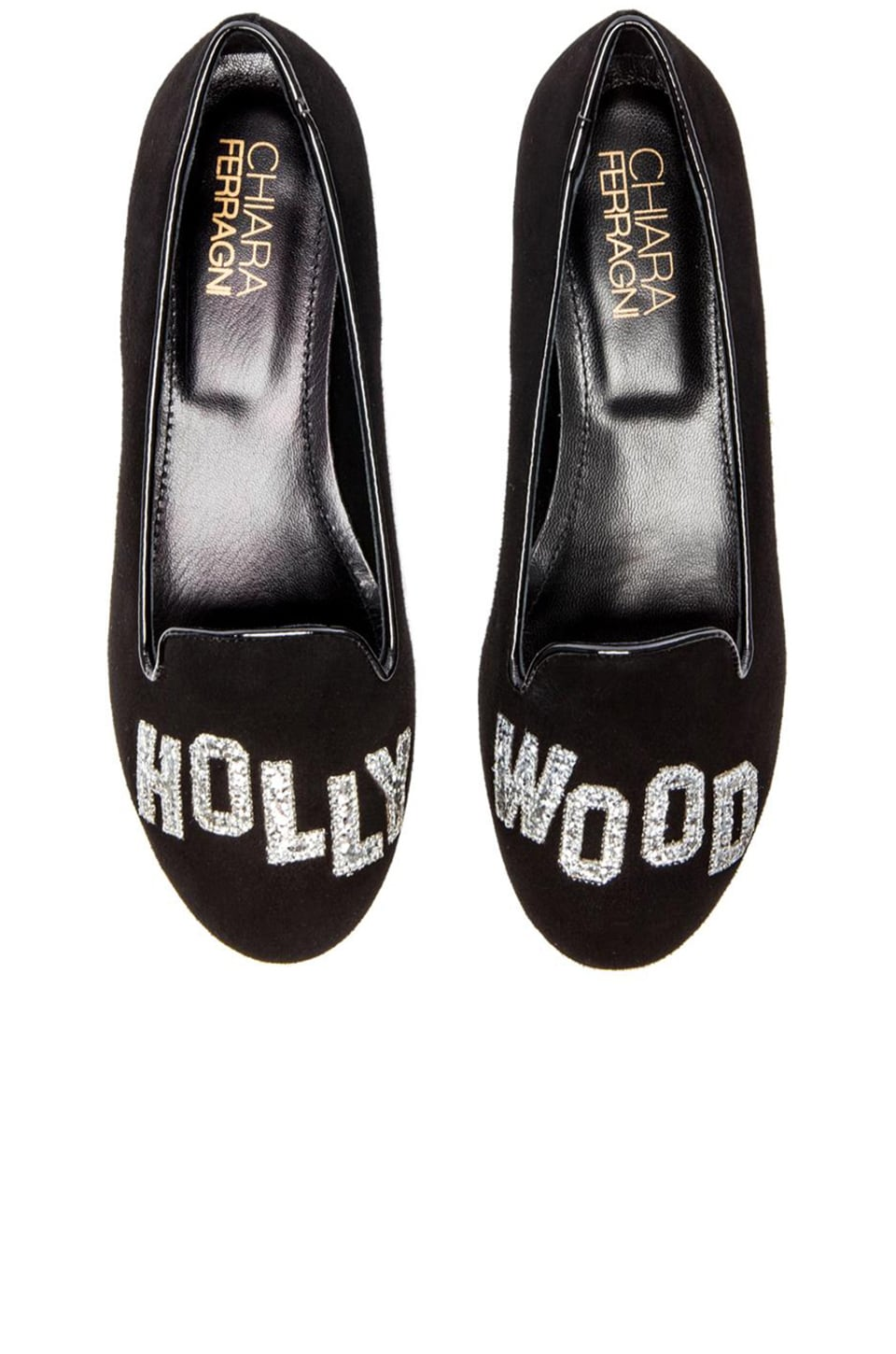 Chiara Ferragni Hollywood Flat in Black