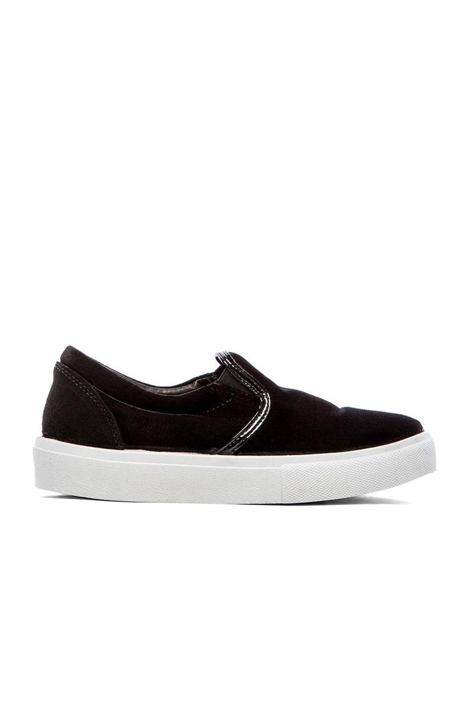 Chiara Ferragni Velvet Slip-On Sneaker in Black