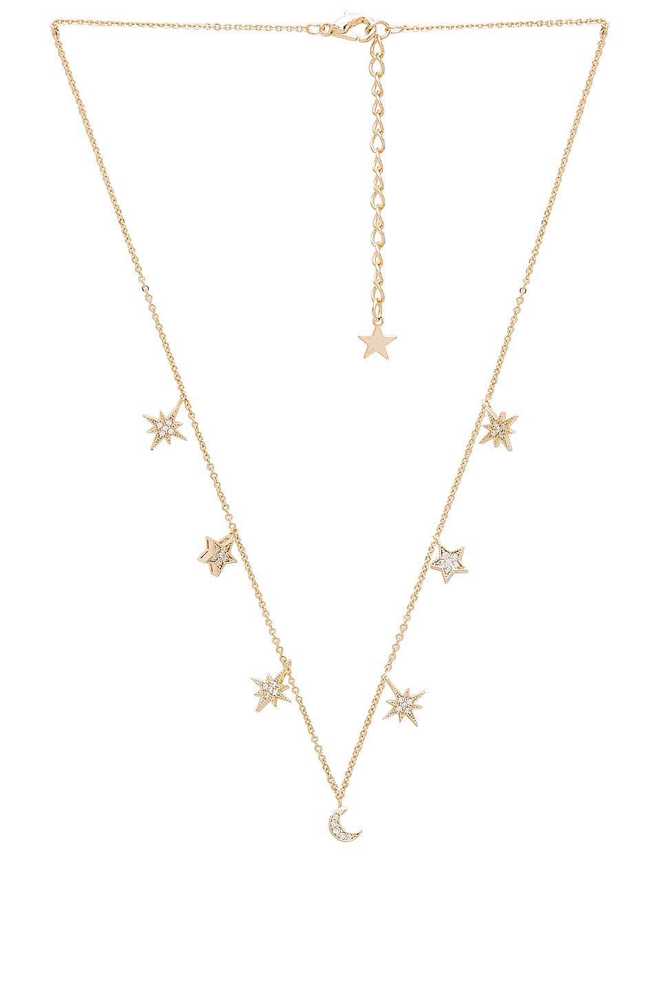Child of Wild Celestial Stars & Moons Necklace in Gold