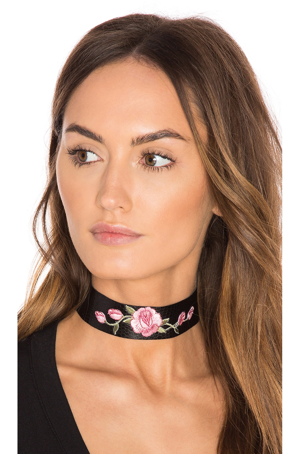 Wild Rose Leather Choker by Child Of Wild