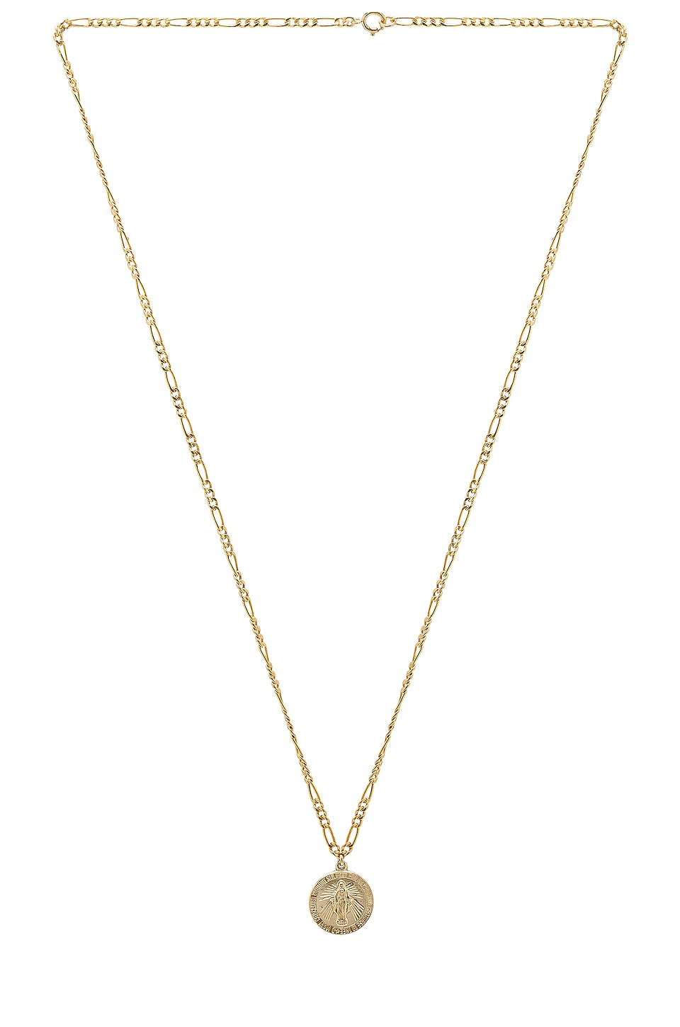 Child of Wild Pray For Us Mary Necklace in Gold