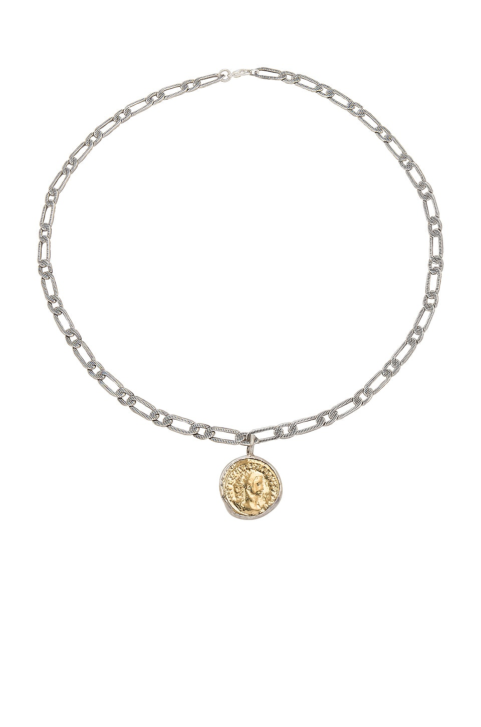 Child of Wild Aurelian Coin Necklace in Silver & Gold