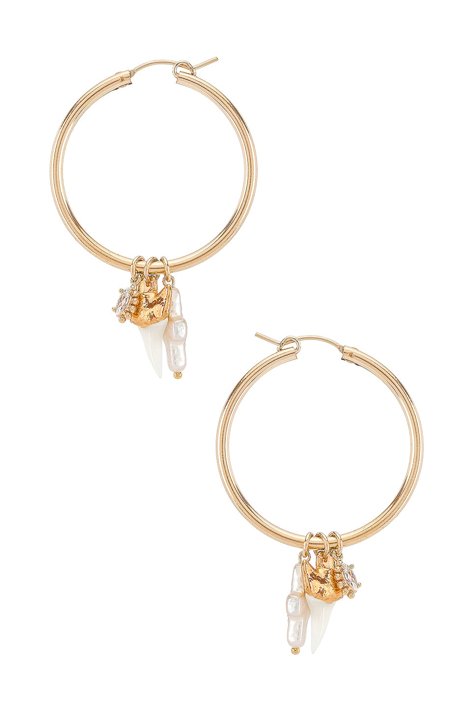 Child of Wild Martello Shark Hoop Earrings in Gold