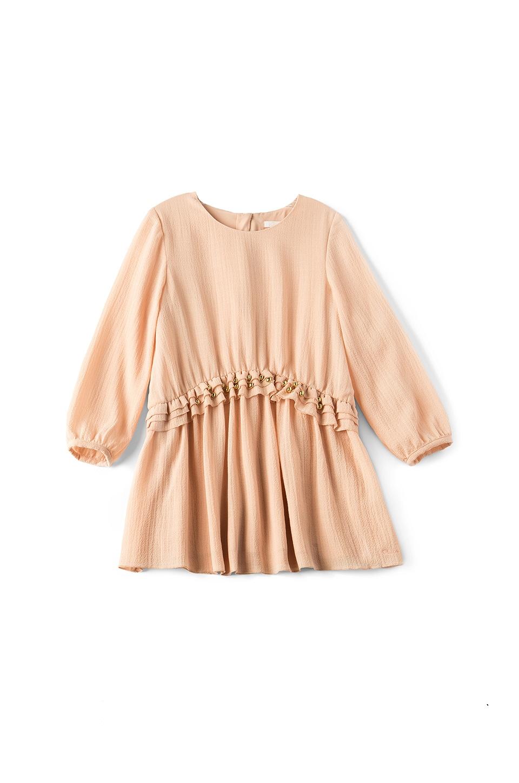 Chloe Kids Couture Crepe Stud Dress in Buvard