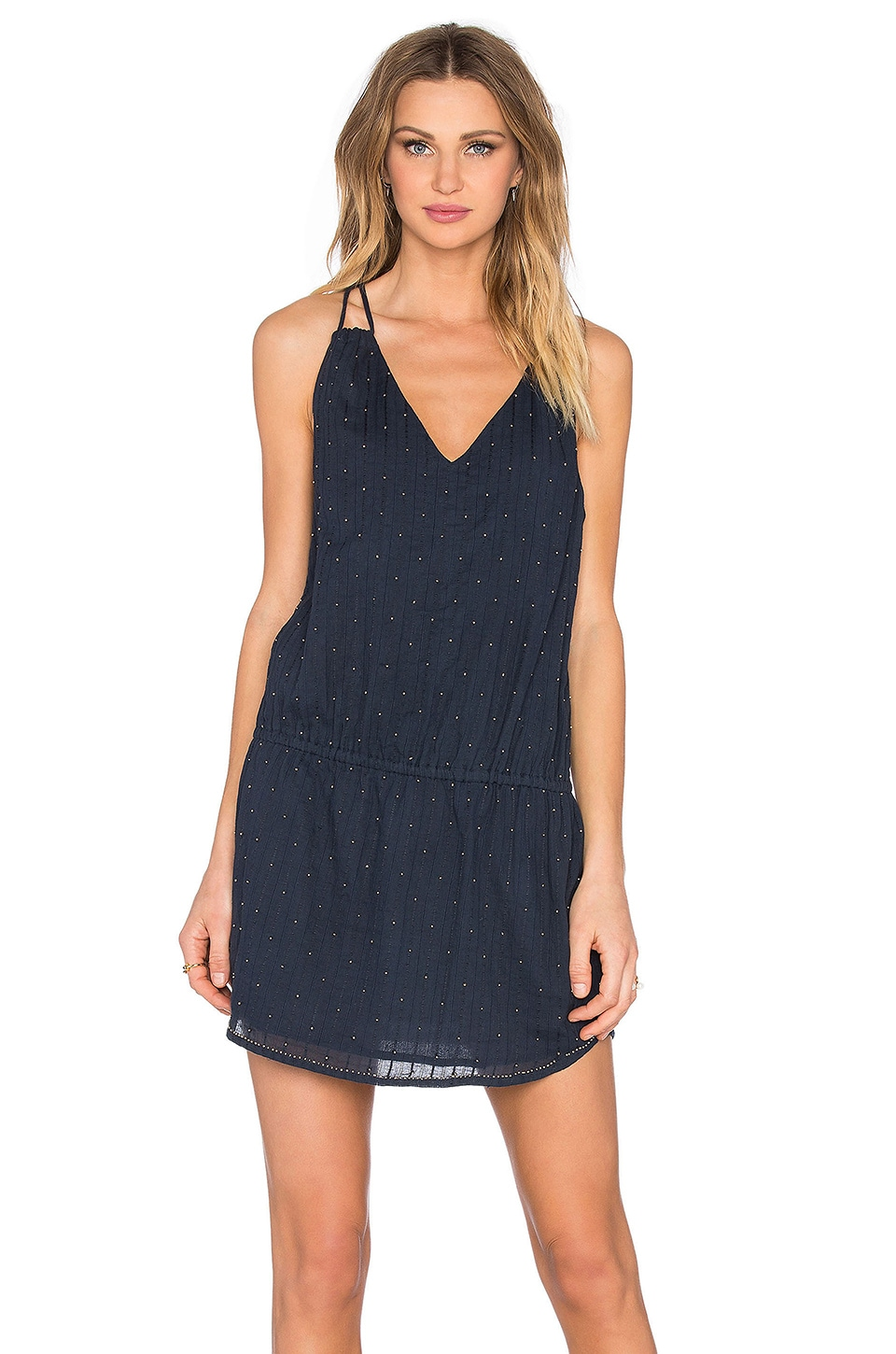 Chloe Oliver The Anchor's Away Dress in Navy & Gold