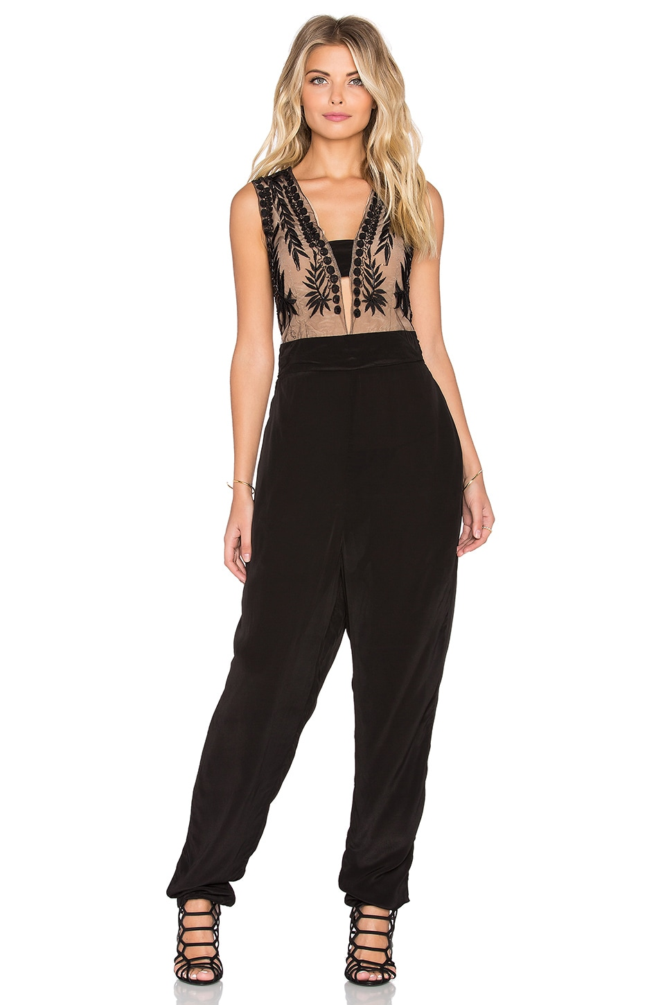 Chloe Oliver The Evening Mist Jumpsuit in Black