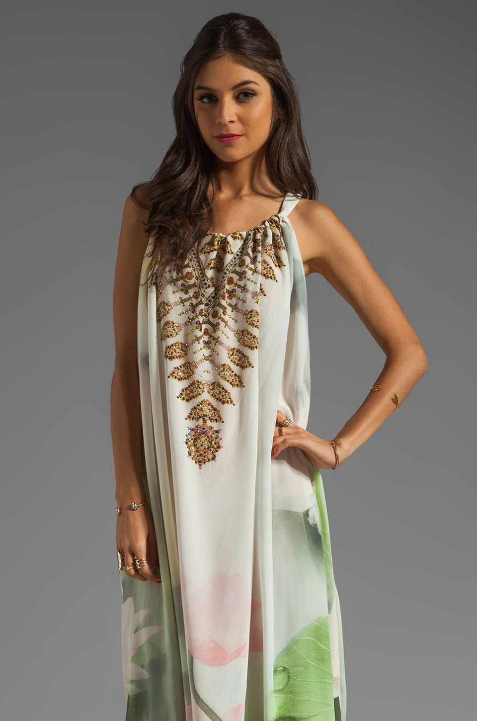 Camilla Drawstring Maxi Dress in Springtime Love