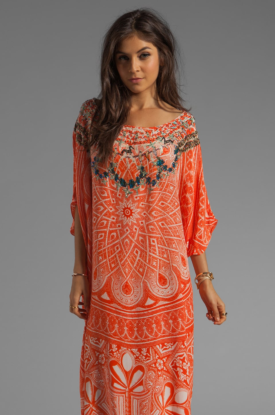 Camilla Road to Nowhere Round Neck Kaftan in Essaouira