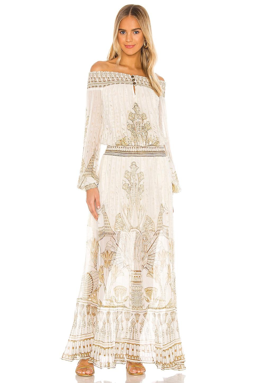 Off Shoulder Shirred Dress                     Camilla 9