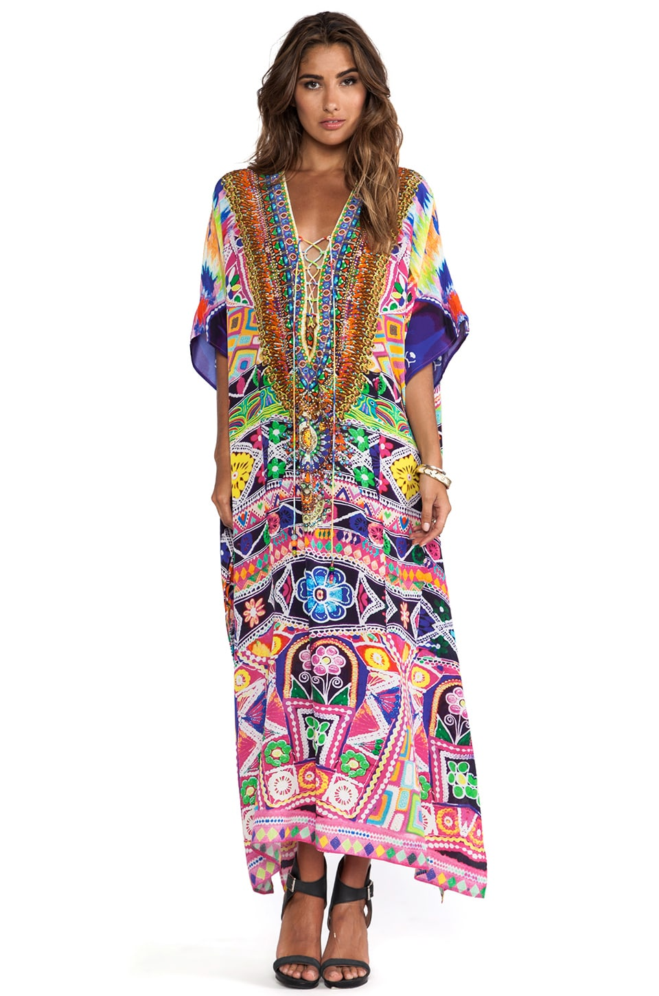 Camilla Lace Up Kaftan in Monteras
