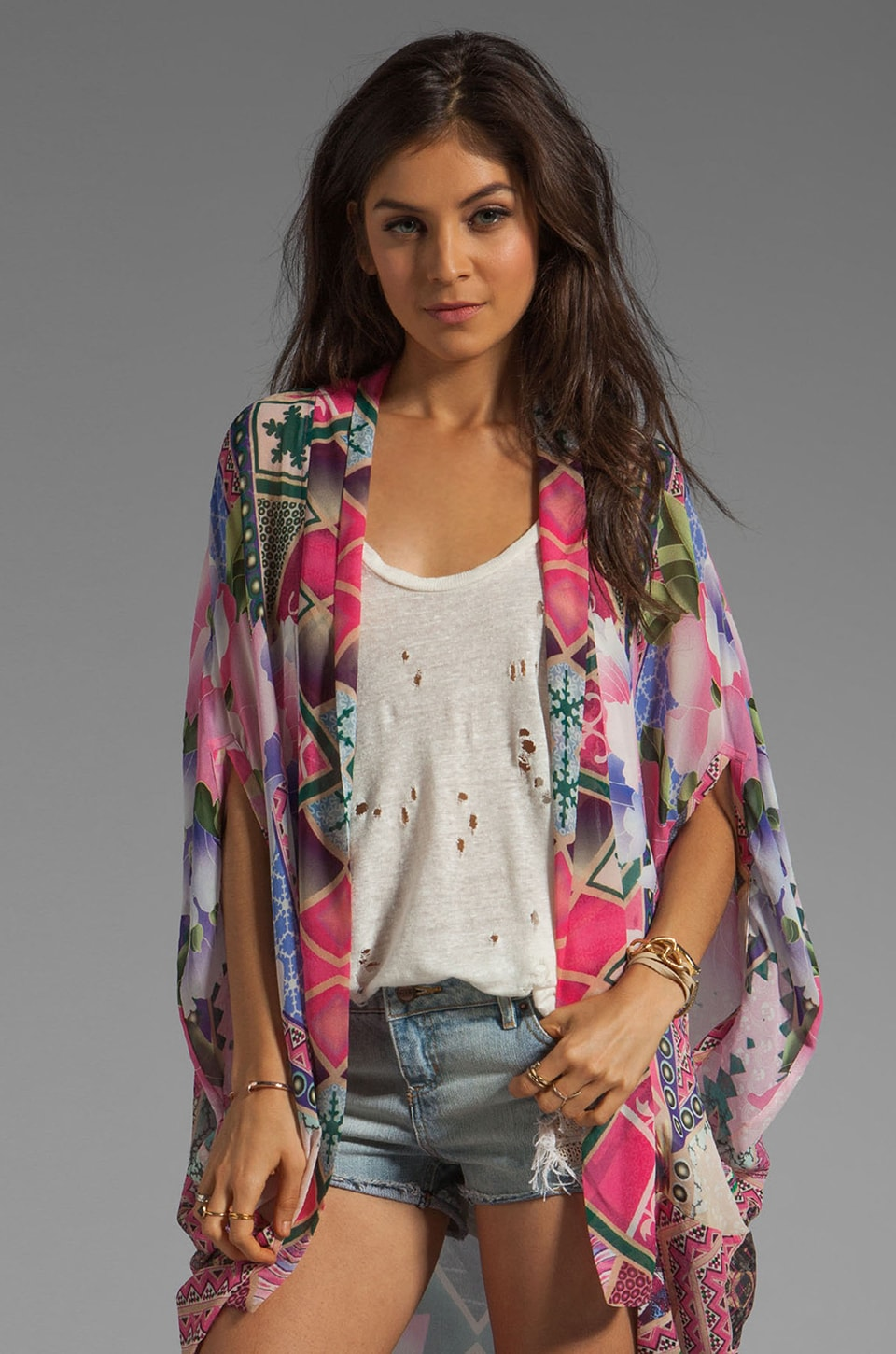 Camilla Moments in Eternity Open Front Cardigan in Violet Eyes