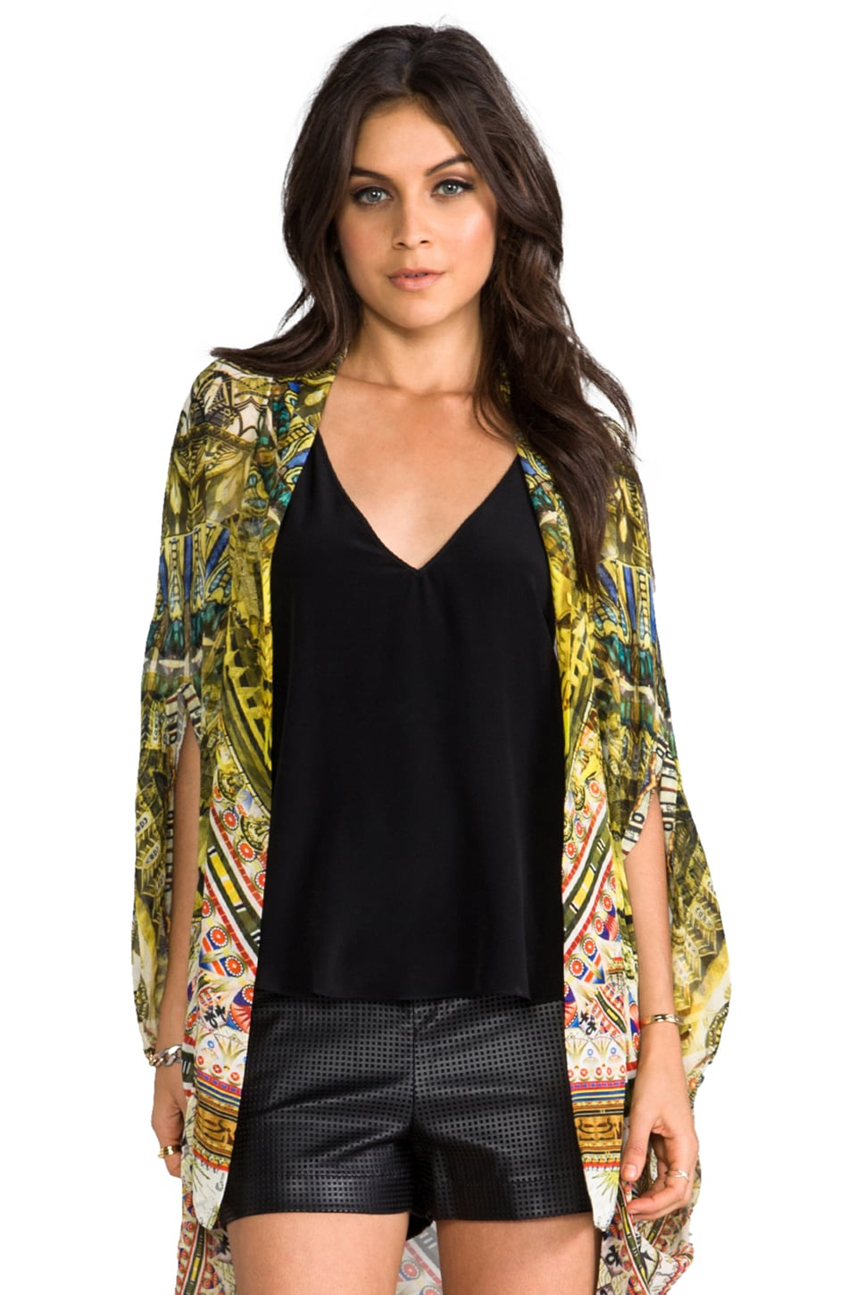 Camilla Sands of Egypt Open Front Cardi Cape in Eye of Horus